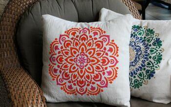Mandala Stenciled Pillows