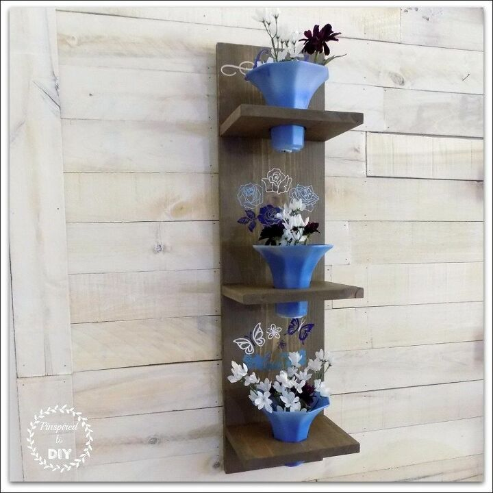diy wall sconce from upcycled glass light shades