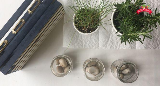 diy mason jar herb planter