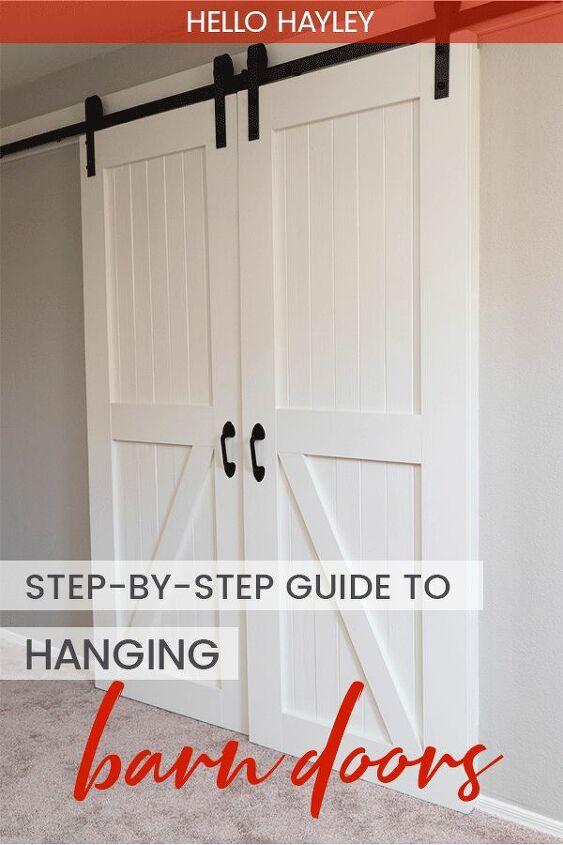 how to hang barn doors