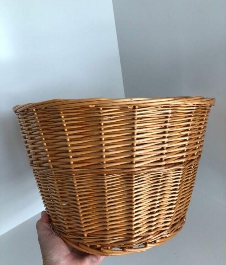 wicker bike basket storage hack