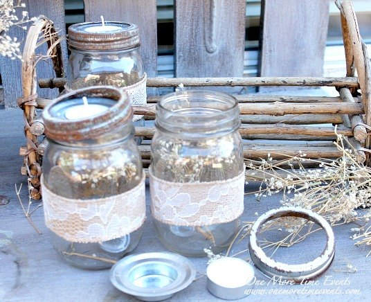 Fall Tea Light Mason Jar Vignette | Hometalk