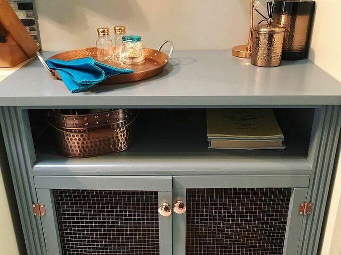 repurpose dresser to specialty kitchen cabinet