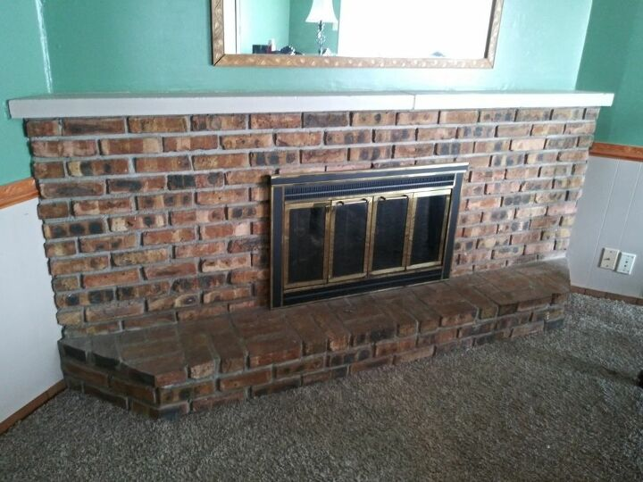 q fireplace and mantle update