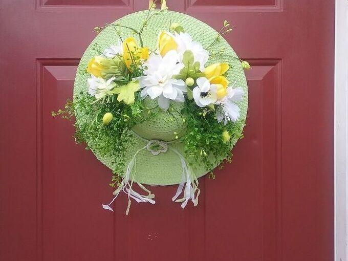 spring bonnet bouquet for your front door
