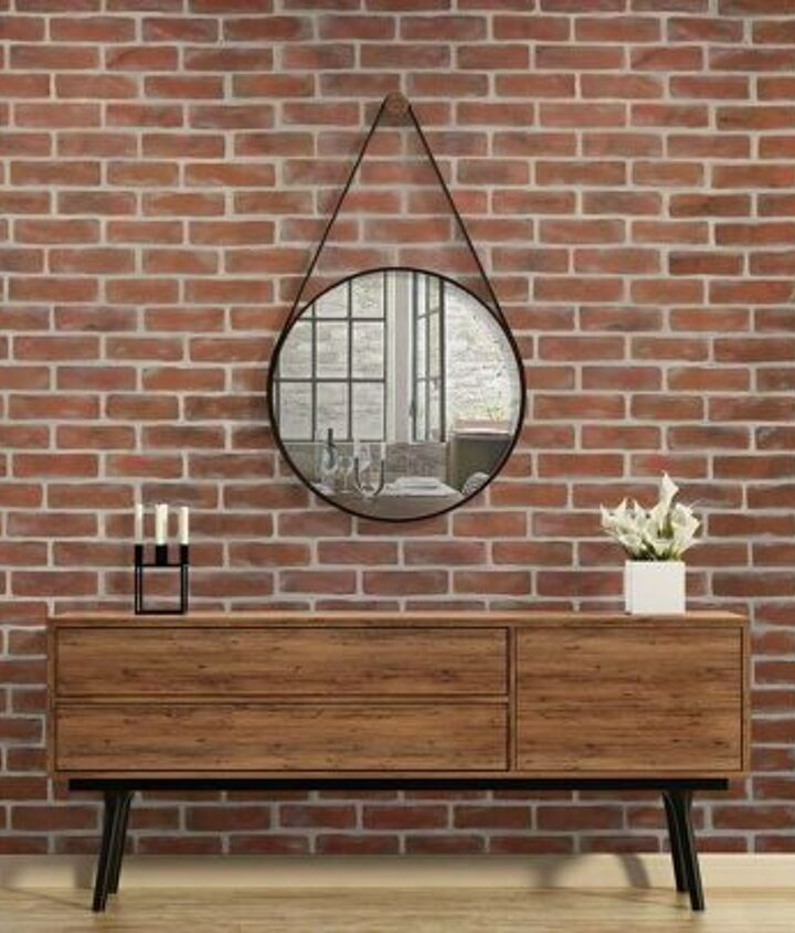 s diy faux brick wall projects, Two Layer Faux Brick Wall Stencil Technique