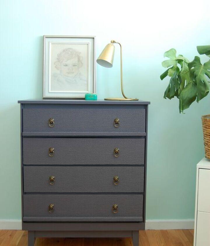 s dresser decor ideas, Using Textured Paper on a Dresser