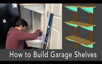 Sturdy Garage Storage Shelves Using 2x4s