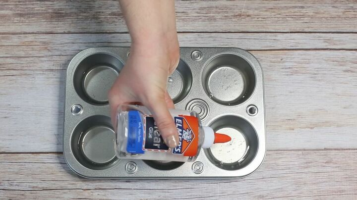 combine elmer s glue and acrylic paint for this one of a kind cabinet