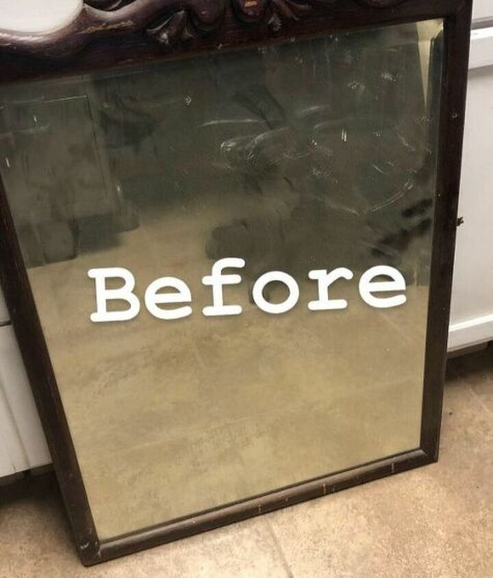 antique mirror turned into shabby chic frame