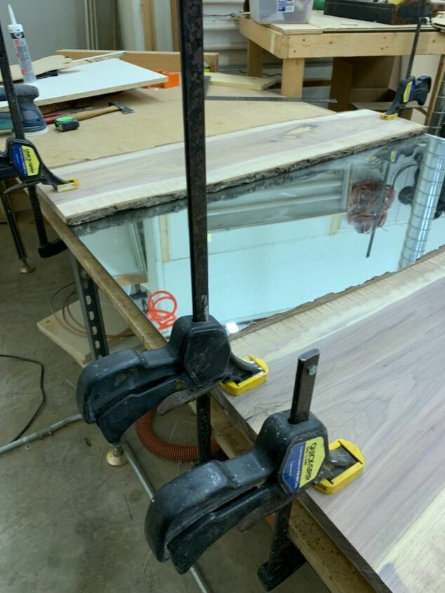 how to add live edge to a mirror