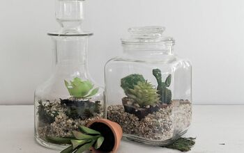 Faux Succulent Terrarium