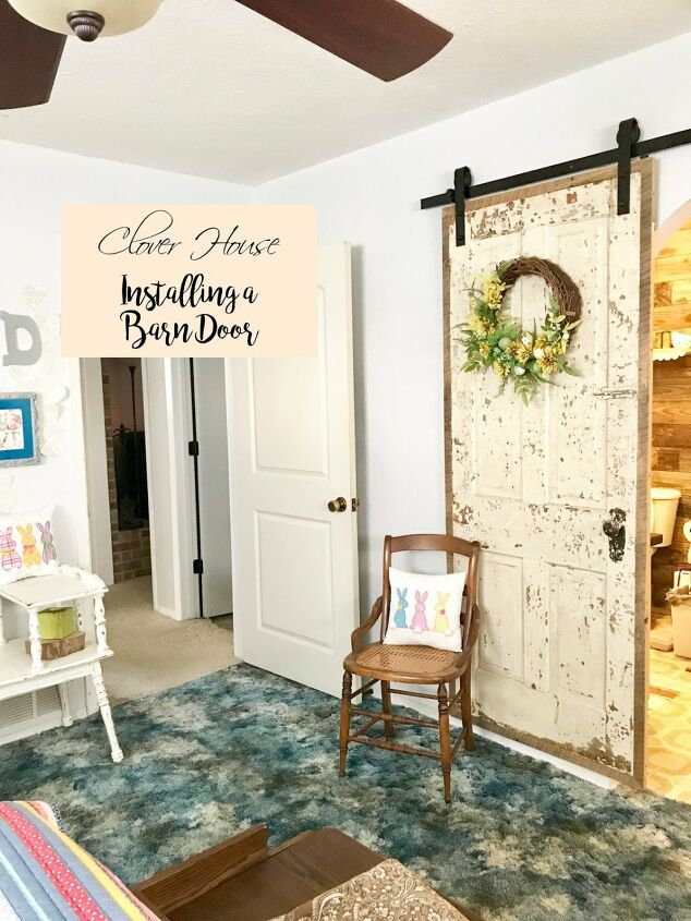 s 20 diy barn door ideas, Master Bedroom Barn Door Creates a Vintage Feel