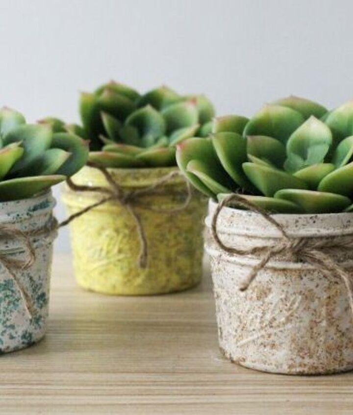 make a pretty mason jar succulent planter for easter