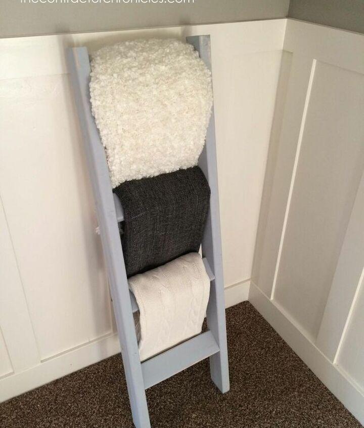 s blanket ladder, The One Hour DIY Blanket Ladder
