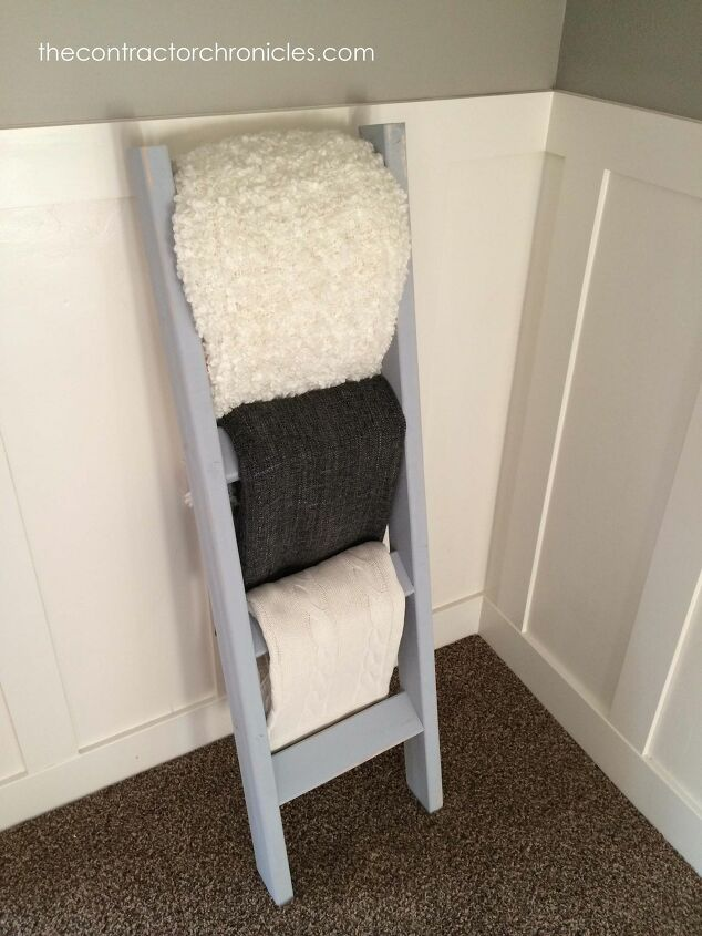 s blanket ladder, The One Hour DIY Blanket Ladder