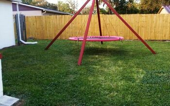Refurbished/Recycled Trampoline Swing!