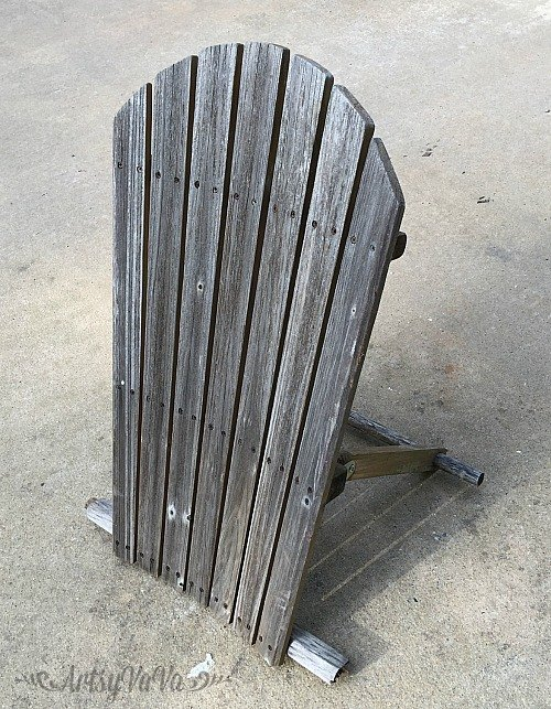 upcycled broken chair