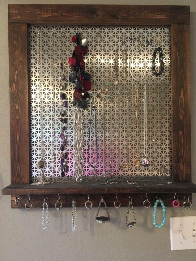 s jewelry organizer, Fabulously Framed Hanging Jewelry Organizer