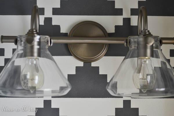 s light fixtures, Clear Globe Industrial Lighting Fixtures for Bathrooms