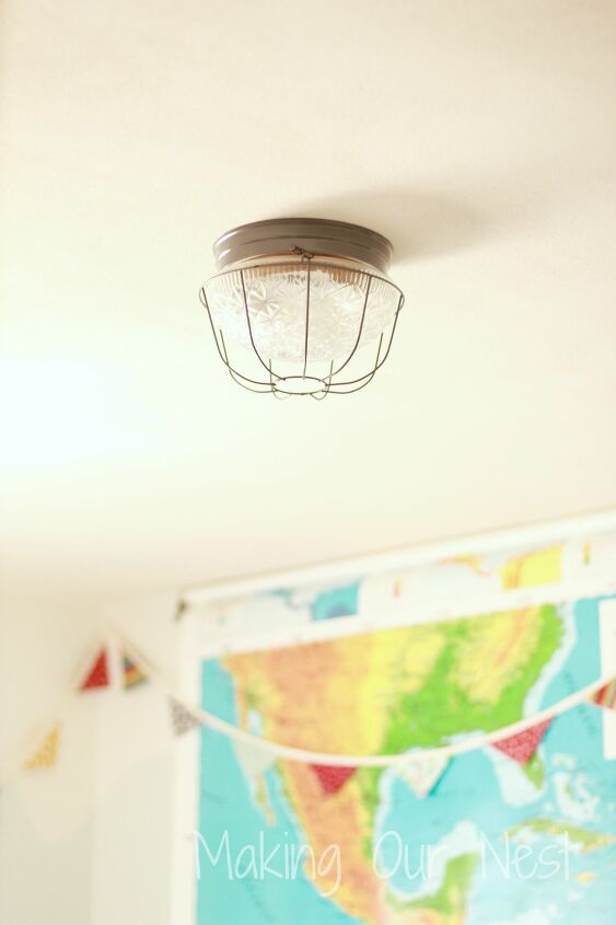 s light fixtures, Wired Industrial Accents for a Kid s Bedroom