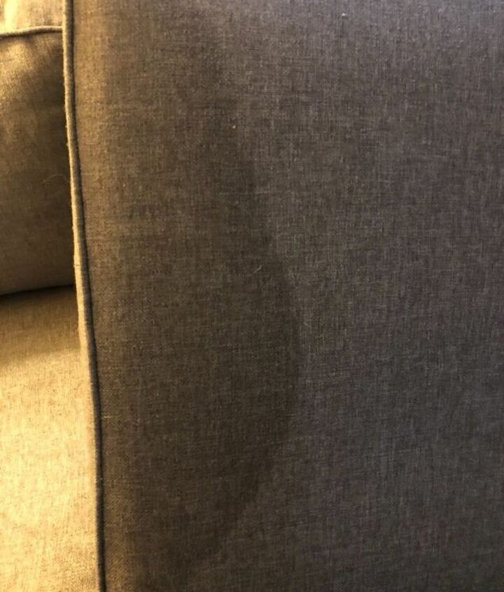 q how do i get a coca cola stain out of my polyester couch