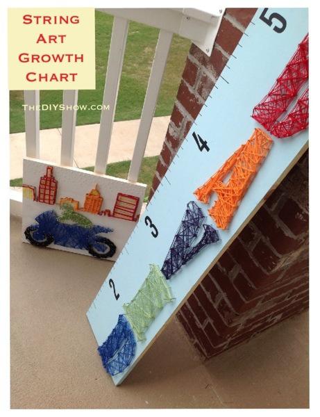 Unique Growth Chart string art