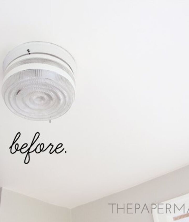 diy cake pan ceiling lamp shade