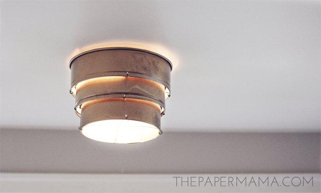 diy cake pan ceiling lamp shade