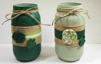 Upcycled Jars Into St. Paddy's Day Decor