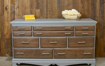 Amazing Gray Dresser Makeover