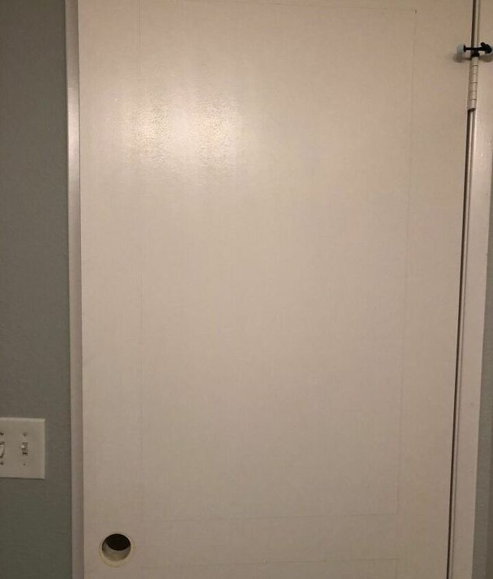 how to transform a builder grad door with molding and paint