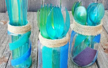 Sand Painted Glass Jars