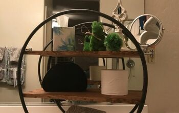 DIY Hula Hoop Wood Shelf