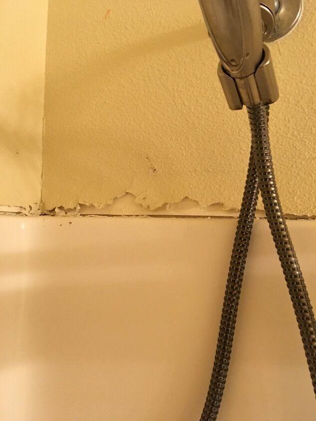 How Do I Repair The Wall Above A Shower Enclosure Hometalk