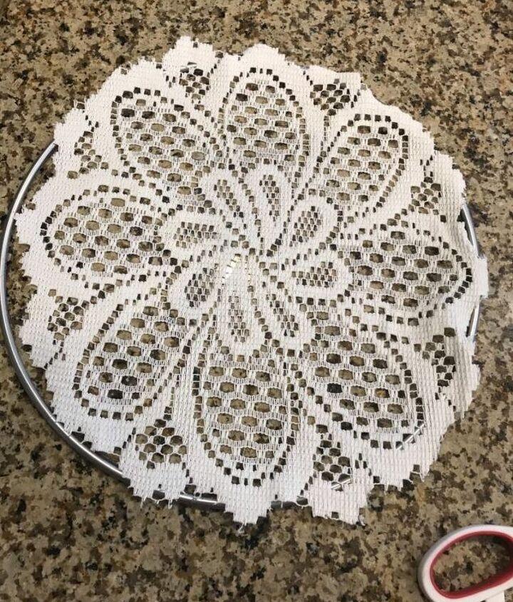 floral lace dreamcatcher tutorial