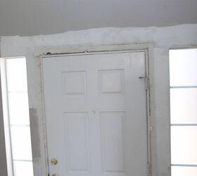 Diy Front Door Makeover Crown Molding