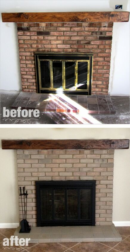 fireplace paint remodel