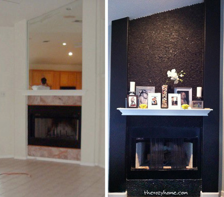 fireplace surround remodel