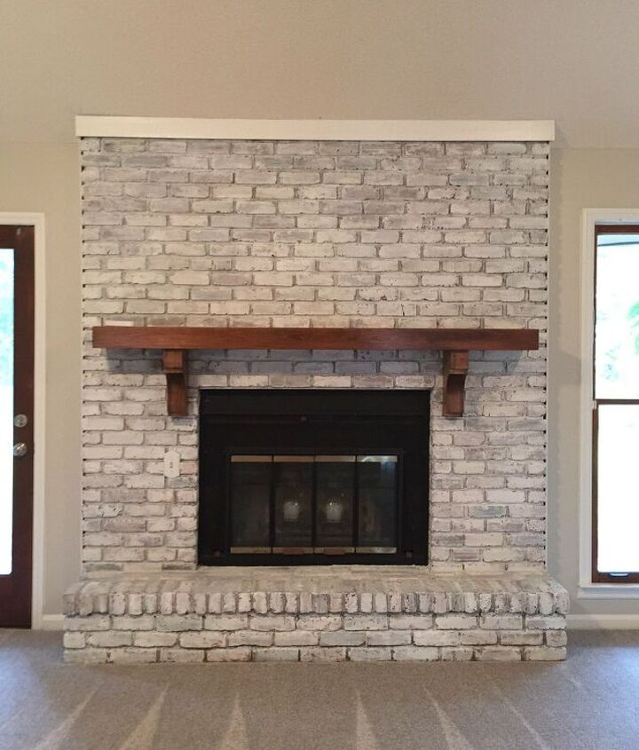 easy fireplace paint remodel