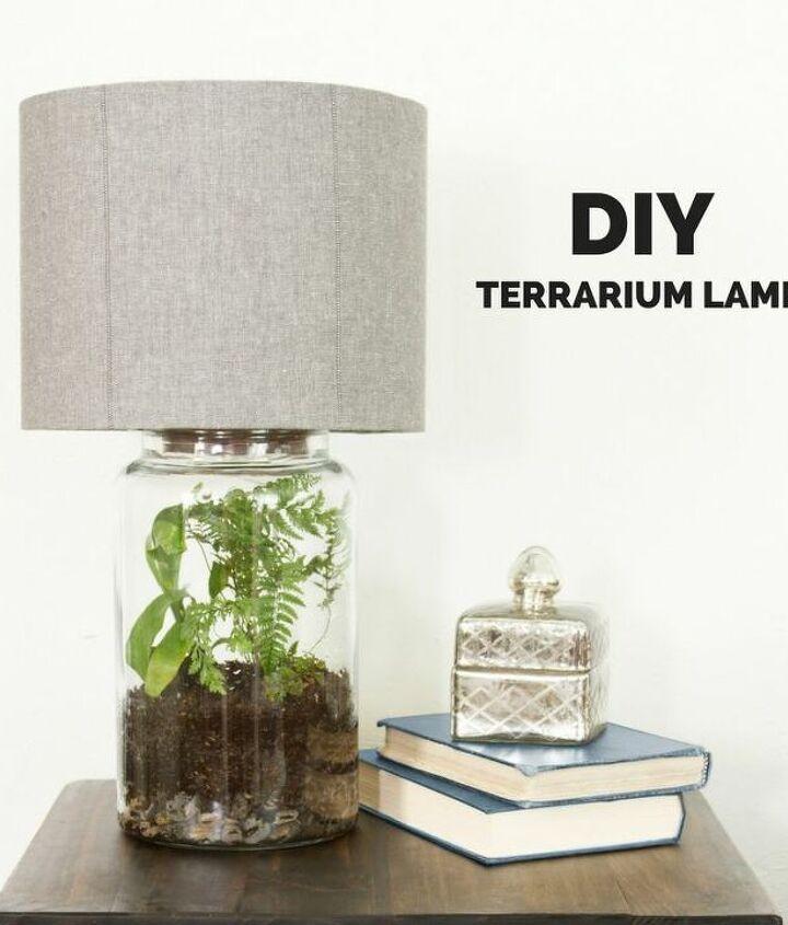 Terrarium in a Lamp Base