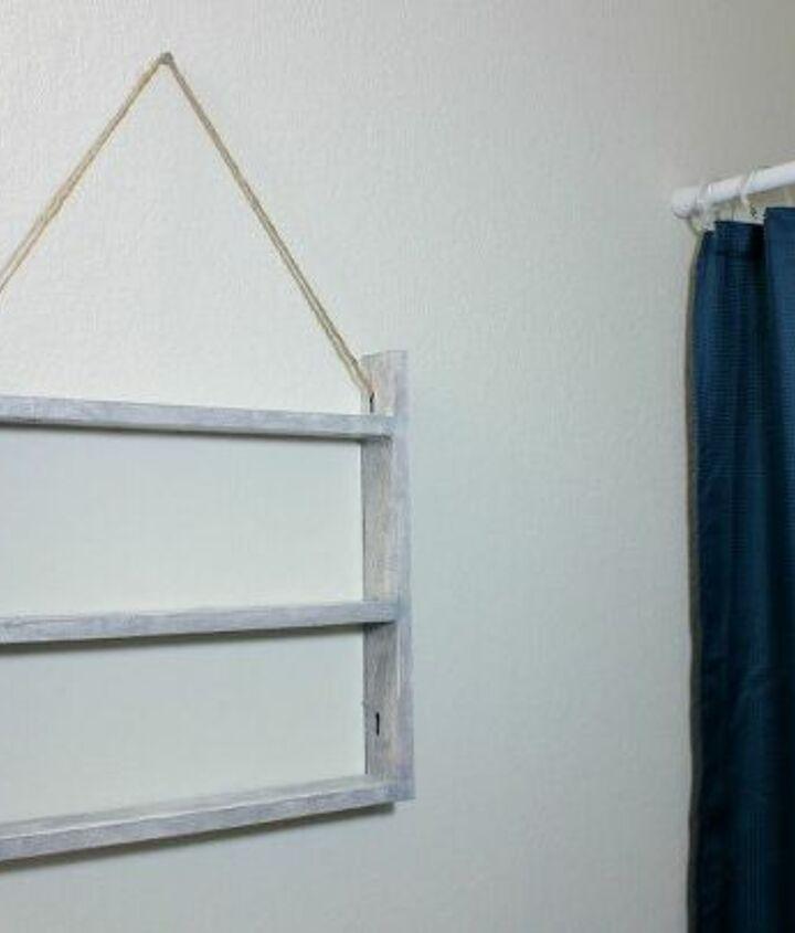 dollar tree diy farmhouse style ladder wall shelf
