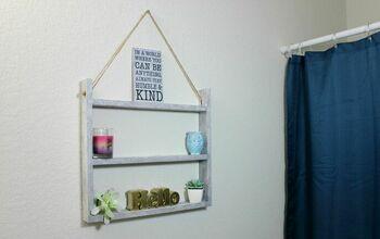 Dollar Tree DIY: Ladder Wall Shelf