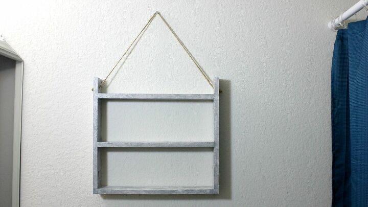 Dollar Tree Diy Farmhouse Style Ladder Wall Shelf Hometalk