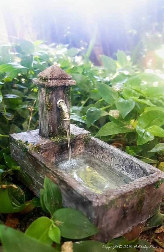 how to make a miniature water feature
