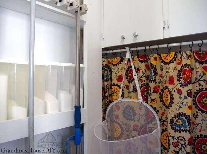my laundry room reveal how one gorgeous table cloth started it all