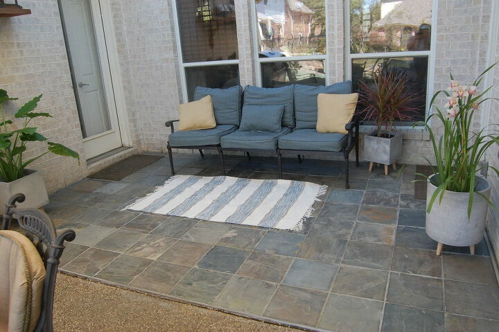 slate patio upgrade