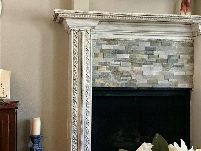 semi diy fireplace re do