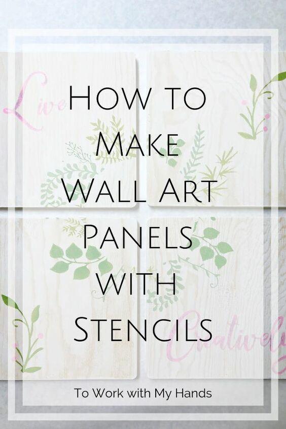diy wall art panels