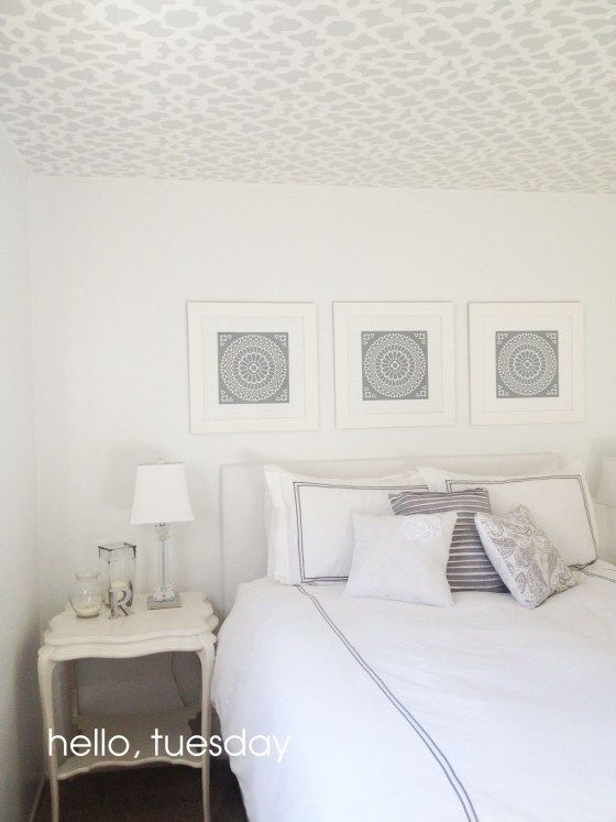Painting a Patterned Ceiling (Cutting Edge Stencils)